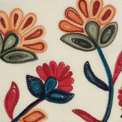 Tela de algodón bordado 2