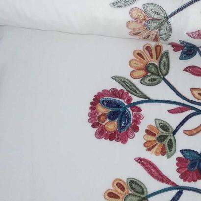 Tela de algodón bordado tubo