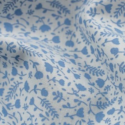 Tela de algodón con flores detalle