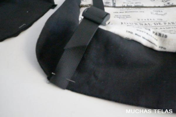 Patrones y explicaciones para confeccionar una mochila tiras inferiores