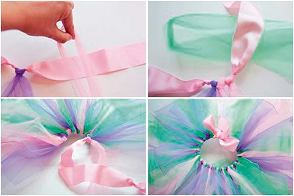 Cómo hacer una Falda de Tul con Nudos