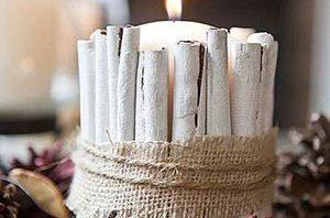 Ideas para decorar velas con aire Navideño