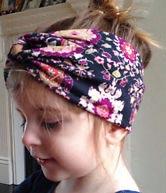 cintas turbante en niña
