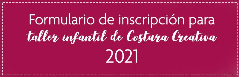Formulario de inscripción Costura Creativa